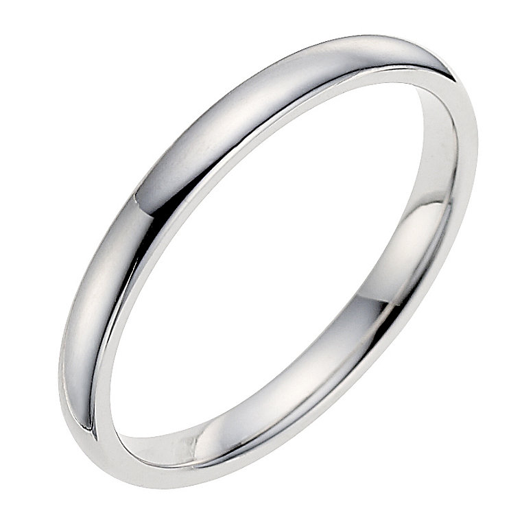 18ct white gold 2mm wedding ring ernest jones for Images of white gold wedding rings