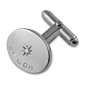 Silver Jubilee diamond cufflinks - Product number 9321829