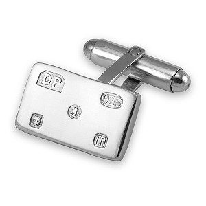 Silver rectangular Jubilee cufflinks - Product number 9321861