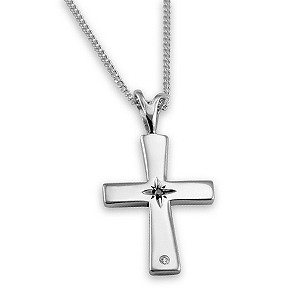 Silver Jubilee diamond cross pendant - Product number 9321888