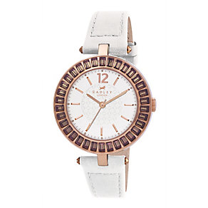 Radley White Strap Stone Set Watch - Product number 9322043