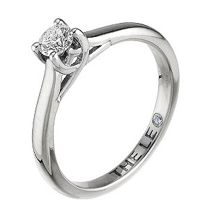 Leo Diamond 18ct white gold 1/4 carat I-SI2 solitaire ring - Product number 9326162