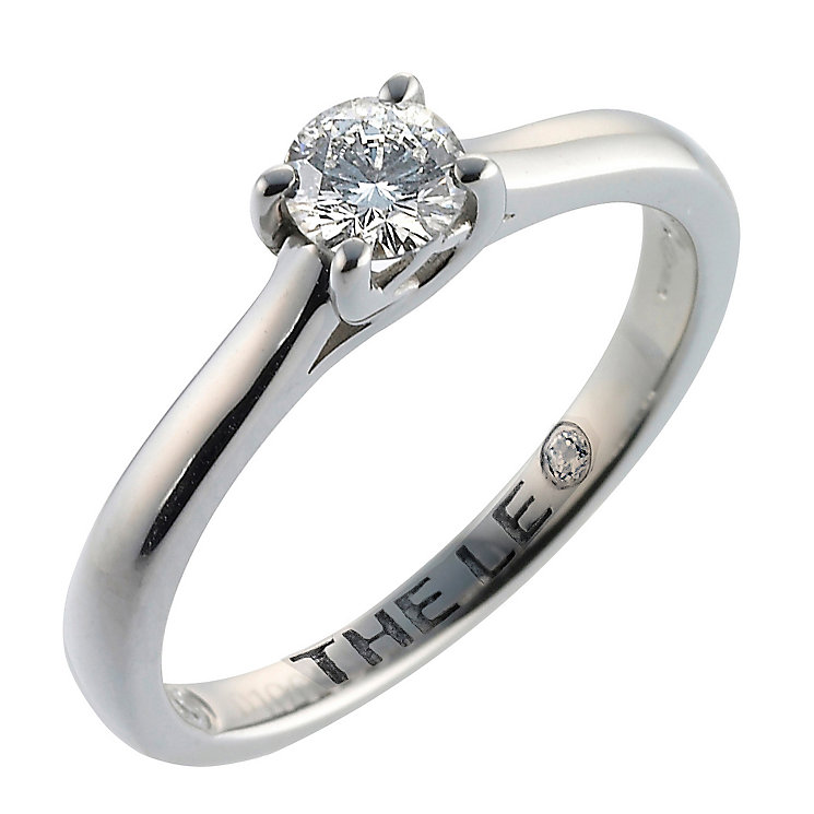 Leo Diamond 18ct white gold 0.33ct I-SI2 solitaire ring - Product number 9326294