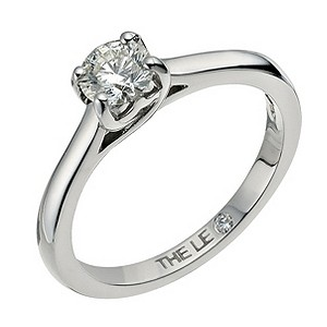 Leo Diamond 18ct white gold 1/2 carat I-SI2 solitaire ring - Product number 9326413
