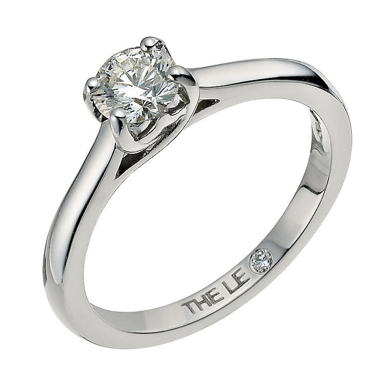 Leo Diamond 18ct white gold 0.50ct I-SI2 solitaire ring - Product number 9326413