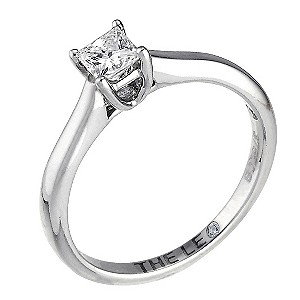 Leo 18ct white gold 1/4carat I-SI2 princess cut diamond ring - Product number 9326685