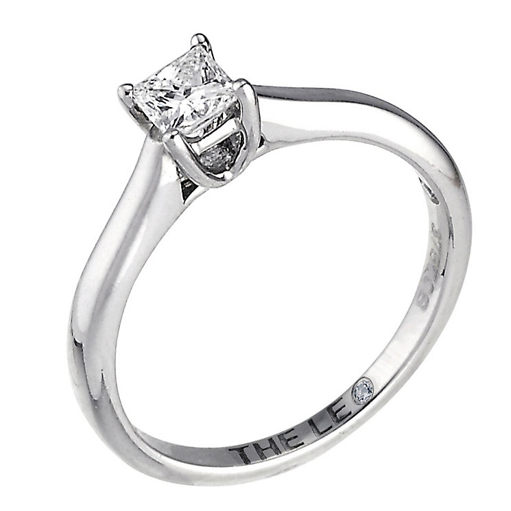 Leo Diamond 18ct white gold 0.25ct I-SI2 princess cut ring - Product number 9326685