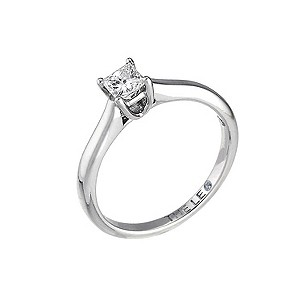 Leo 18ct white gold 1/3carat I-SI2 princess cut diamond ring - Product number 9326812