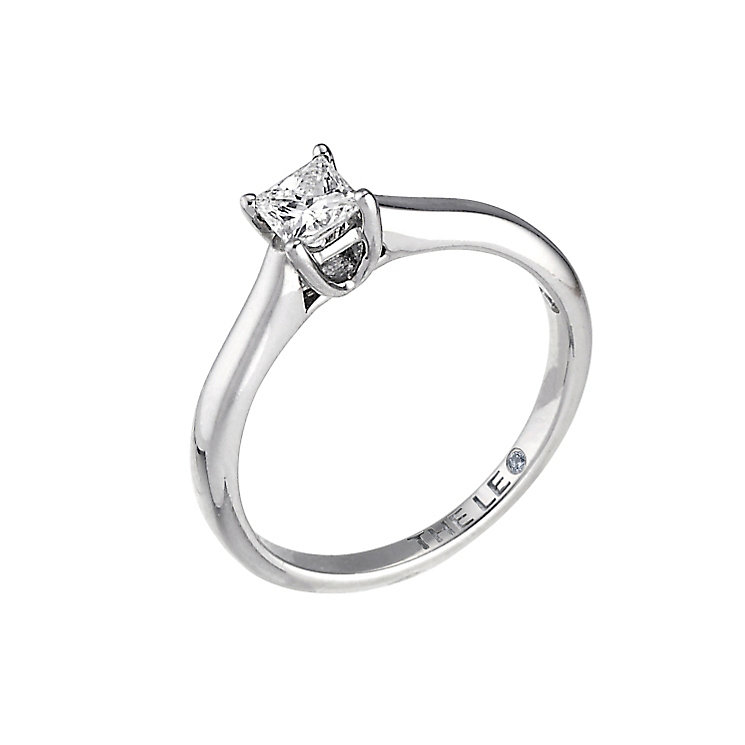 Leo Diamond 18ct white gold 0.33ct I-SI2 princess cut ring - Product number 9326812