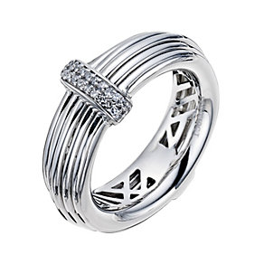 Silver Wire & Diamond Ring - Product number 9326952