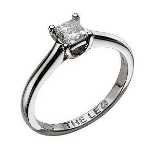 Leo 18ct white gold 1/2carat I-SI2 princess cut diamond ring - Product number 9327088