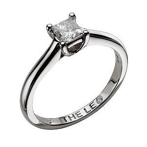 ... gold 12carat I-SI2 princess cut diamond ring - Product number 9327088
