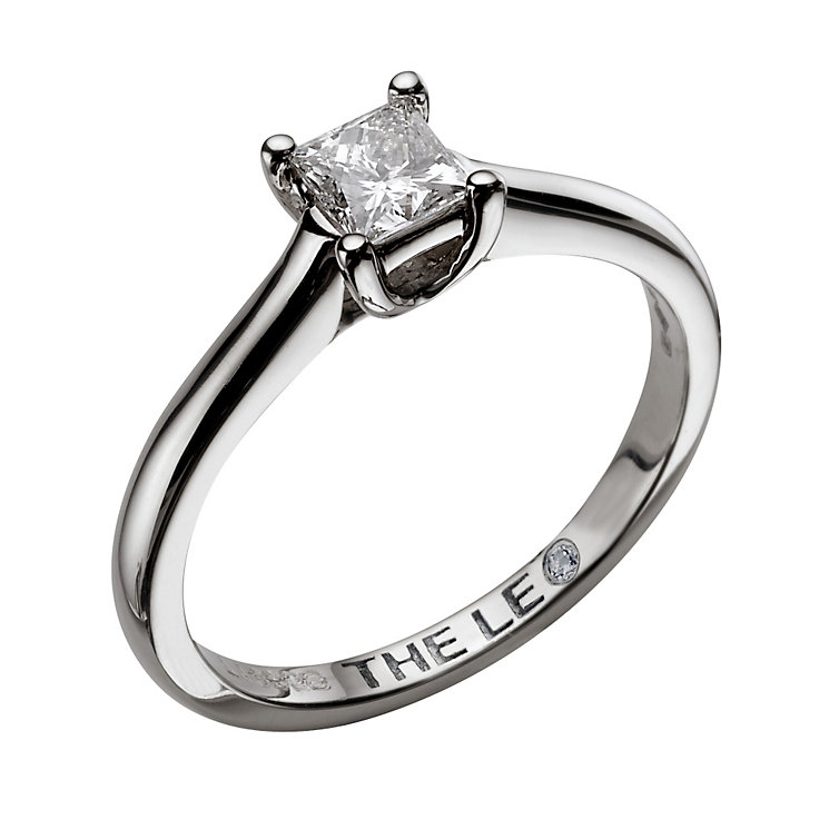 Leo Diamond 18ct white gold 0.50ct I-SI2 princess cut ring - Product number 9327088