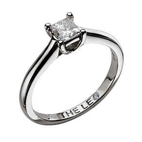 Leo 18ct white gold 1/2carat I-SI2 princess cut diamond ring - Product number 9327088
