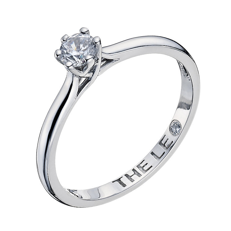 Leo Diamond 18ct white gold 0.25ct I-I1 solitaire ring - Product number 9327347