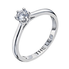 Leo Diamond 18ct white gold 0.33ct I-I1 solitaire ring - Product number 9327487
