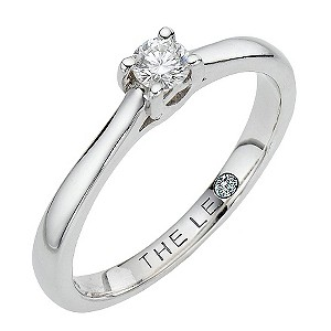 Leo Diamond 18ct white gold 0.15pt I-SI2 solitaire ring - Product number 9327908