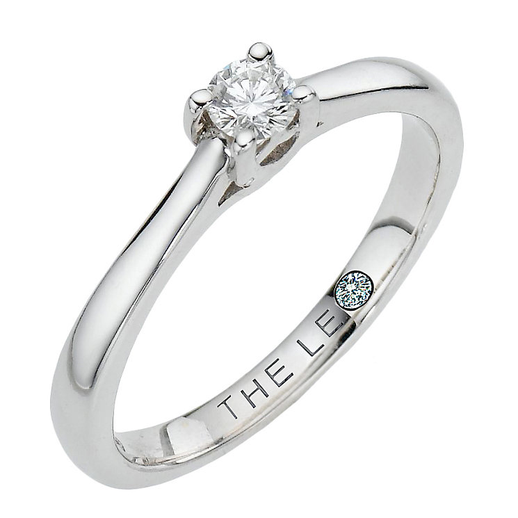 Leo Diamond 18ct white gold 0.15ct I-SI2 solitaire ring - Product number 9327908
