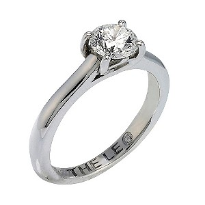 Leo Diamond 18ct white gold 0.88pt I-SI2 solitaire ring - Product number 9328157