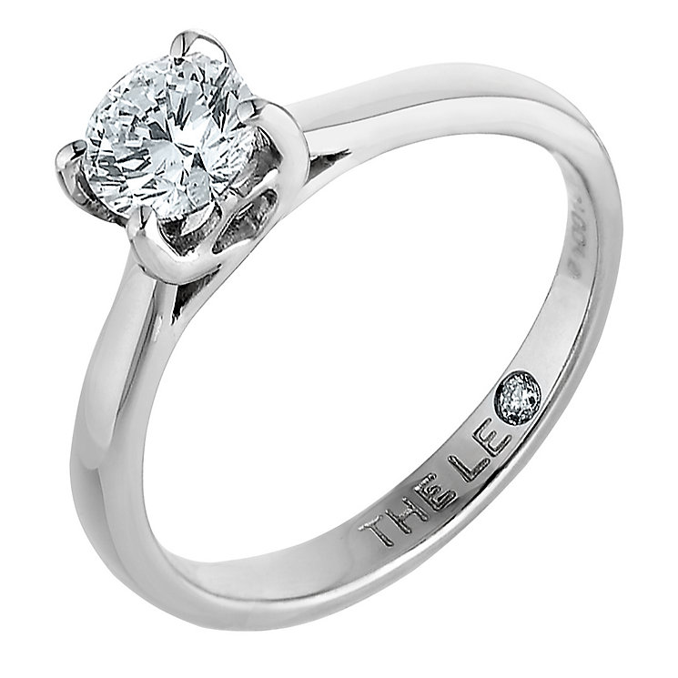 Leo Diamond 18ct white gold 1.00ct I-SI2 solitaire ring - Product number 9328297
