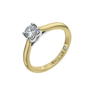 Leo 18ct yellow & white gold 0.40pt I-SI2 diamond ring - Product number 9328556