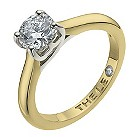 Leo 18ct yellow & white gold 0.88pt I-SI2 diamond ring - Product number 9328688