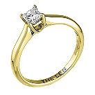 Leo 18ct yellow & white gold 1/3 carat I-SI2 diamond ring - Product number 9328947