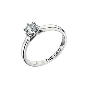 Leo Diamond 18ct white gold 0.66ct I-I1 solitaire ring - Product number 9329226