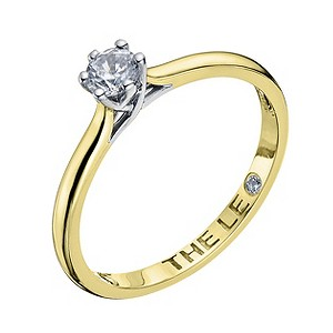 Leo Diamond 18ct yellow gold 0.25ct I-I1 solitaire ring - Product number 9329358