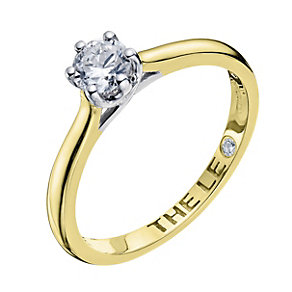 Leo Diamond 18ct yellow gold 0.40pt I-I1 solitaire ring - Product number 9329617
