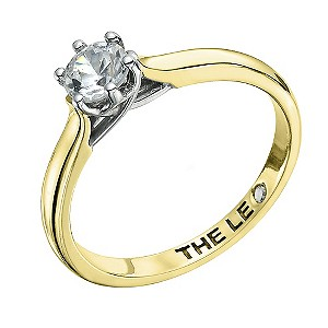 Leo Diamond 18ct yellow gold 1/2 carat I-I1 solitaire ring - Product number 9329749
