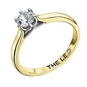 Leo Diamond 18ct yellow & white gold 0.66ct I-I1 ring - Product number 9329889
