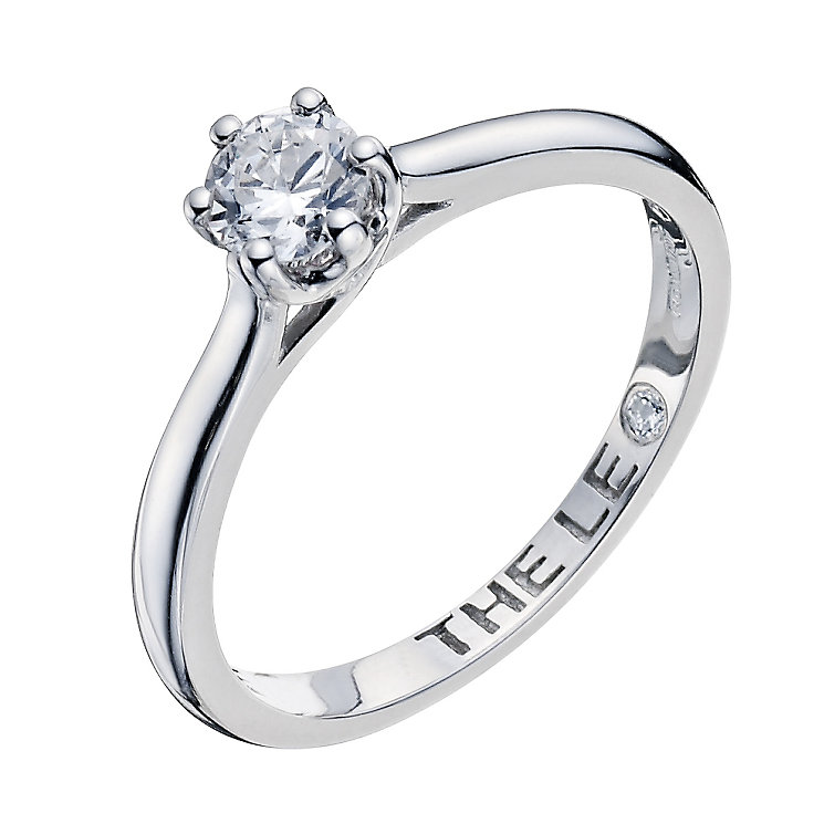 Leo Diamond platinum 0.40ct I-I1 solitaire ring - Product number 9330283