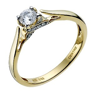 Sattva 22ct yellow gold 0.33 point diamond solitaire ring - Product number 9332405