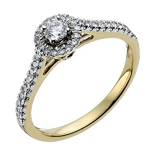 Sattva 22ct yellow gold 0.33 point diamond halo ring - Product number 9332545