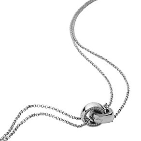 DKNY Ladies' Double Chain & Linked Ring Necklace - Product number 9332812