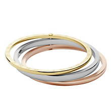 DKNY Organic Three Colour Hinged Bangle - Product number 9332847