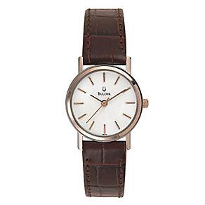 Bulova Ladies' Brown Strap Watch - Product number 9332987
