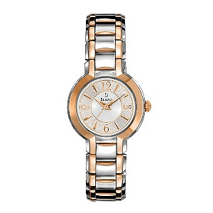 Bulova Ladies' Arabic Rose Gold Cocktail Bracelet Watch - Product number 9333029