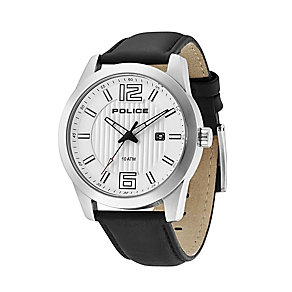 Police Trophy Black Leather Strap Watch - Product number 9335692