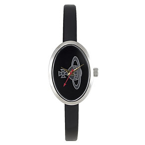 Vivienne Westwood ladies' black oval dial & strap watch - Product number 9335900