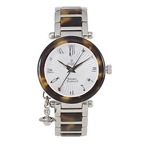 Vivienne Westwood stainless steel & tortoise shell watch - Product number 9336087