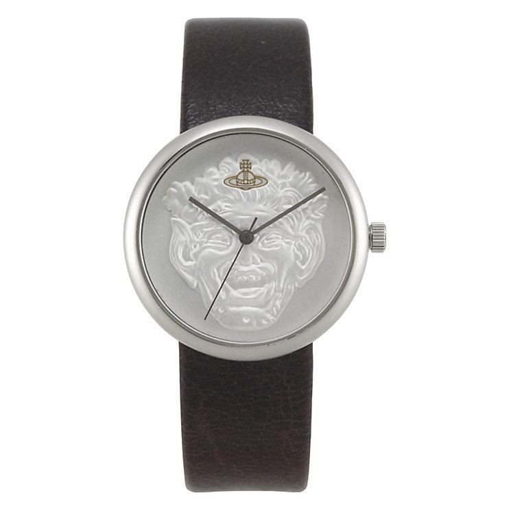Vivienne Westwood ladies' silver dial & black strap watch - Product number 9336265
