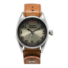 Vivienne Westwood men's tan leather strap watch - Product number 9336311