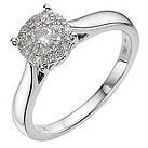 18ct white gold 1/2 carat diamond cluster ring - Product number 9337873