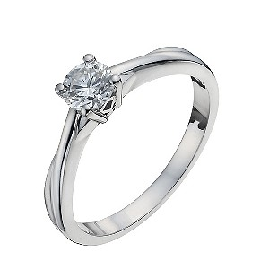 Jubilee 18ct white gold 0.60 carat diamond solitaire ring - Product number 9338705