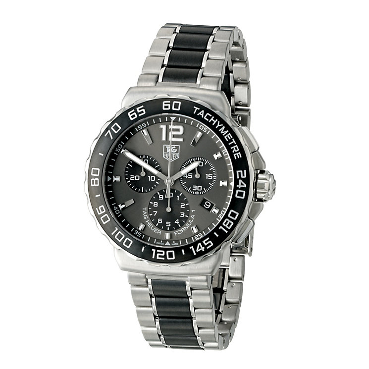 tag heuer f1 men s stainless steel black ceramic watch ernest tag heuer f1 men s stainless steel black ceramic watch product number 9338861