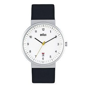 Braun men's white dial & black strap watch - Product number 9338969