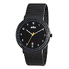 Braun men's black ion plated mesh bracelet watch - Product number 9338993
