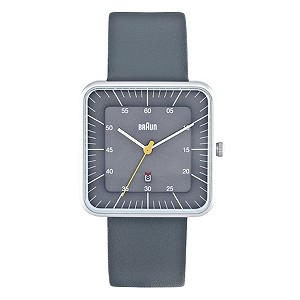 Braun men's square dial grey watch - Product number 9339000